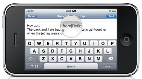 iPhone 3GS soft keyboard in landscape mode