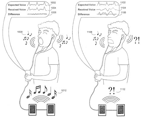 Apple karaoke patent-application illustration