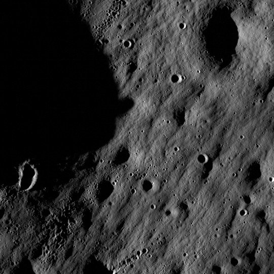 LRO image from the Mare Nubium region. P