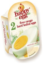 Happy Egg Company pack of preboiled eggs