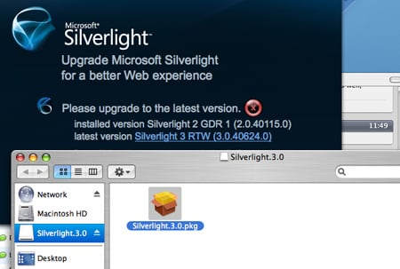 Installing Silverlight 3 on the Mac