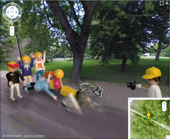The second shock frame of the bicycle assault caught on Street View