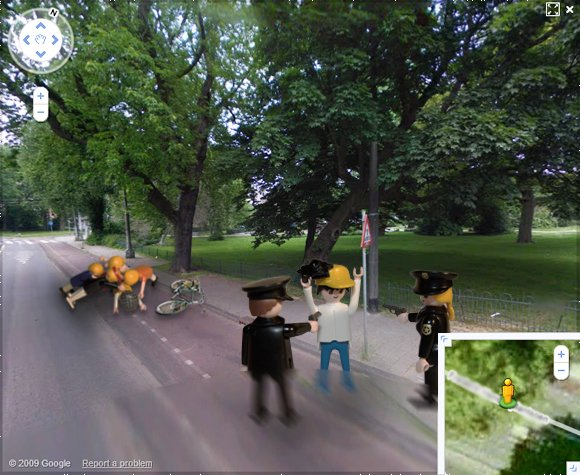 The third shock frame of the bicycle assault caught on Street View