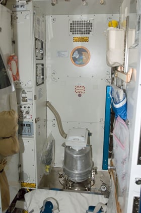 The US toilet aboard the ISS. Pic: NASA