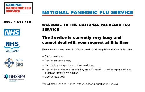 nhs pandemic flu site