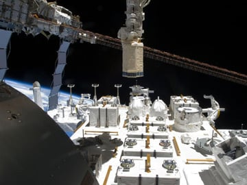 Japan's Kibo lab Exposed Facility. Pic: NASA