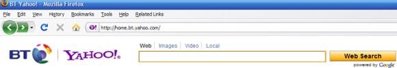 BT Yahoo Google