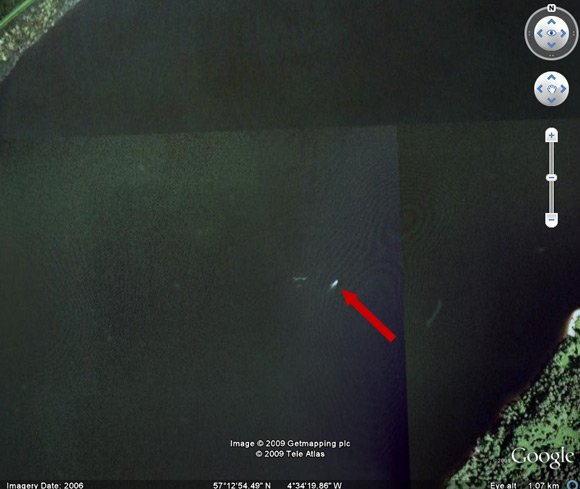 Loch Ness showing possible Nessie sighting