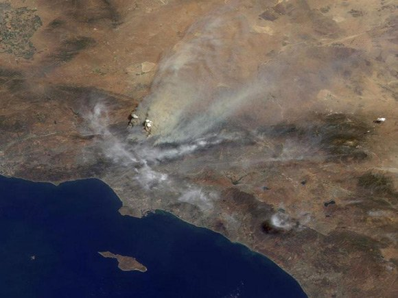 NASA's Terra images of the California fires
