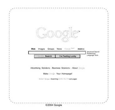 Google home page patent