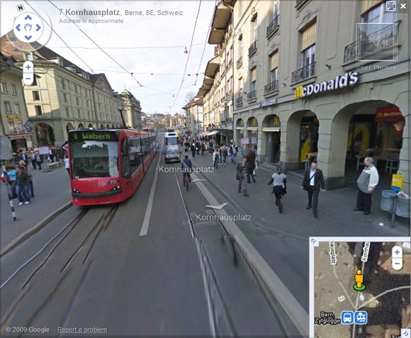 Screen grab of Street View in Bern