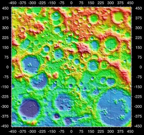 LOLA imagery of the lunar south pole. Credit:NASA
