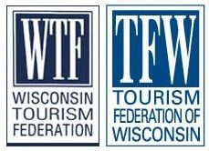 The Wisconsin Tourism Federation logo and its new incarnation