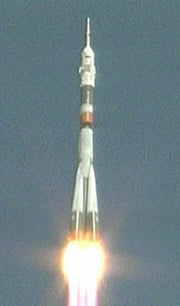 This morning's Soyuz launch from Baikonur Cosmodrome