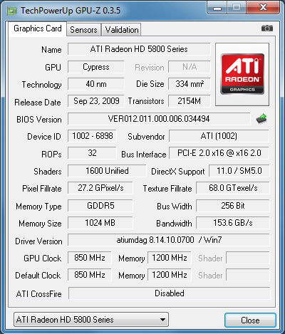 AMD Radeon HD 5870