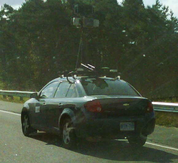 Street View vehicle captured north of Toronto