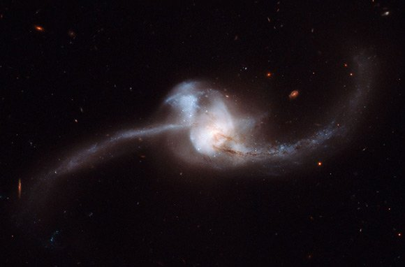 Galaxy NGC 2623 captured by the Hubble Space Telescope