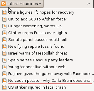 Why Carla Bruni does anal... explains BBC RSS feed