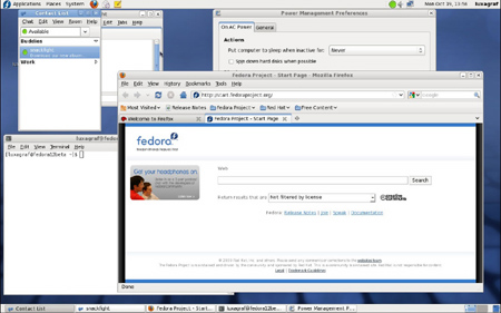 Fedora 12 beta 1 look and feel