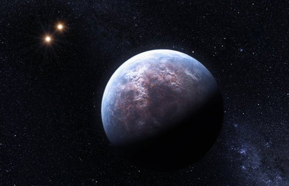 Artist's impression of the exoplanet orbiting Gliese 667 C. Pic: ESO