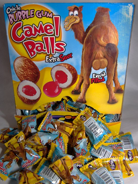 A box of Camel Balls bubble gum