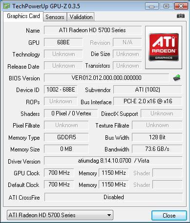 AMD ATI Radeon HD 5750
