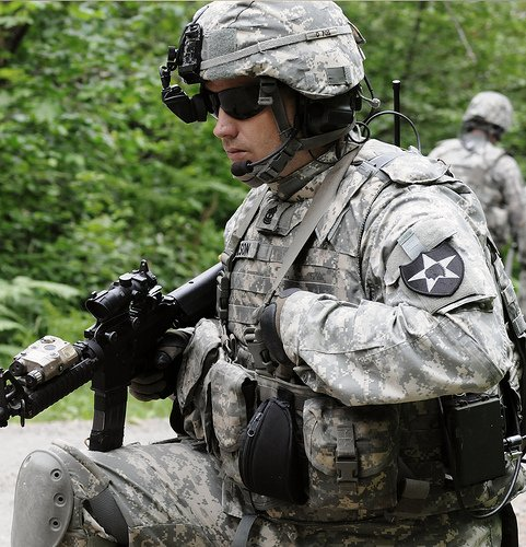 The Land Warrior system in use. Credit: PEO Soldier