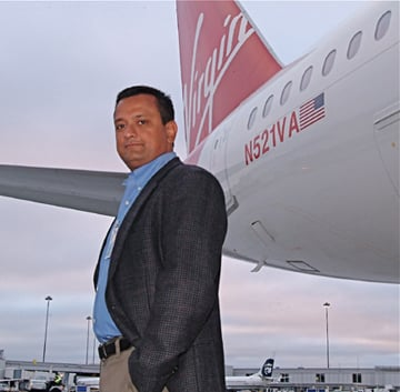 Virgin America's Ravi Simhambhatla, photo: Gavin Clarke