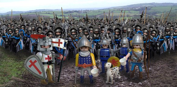 The Battle of Agincourt as recreated by our revisionist history department