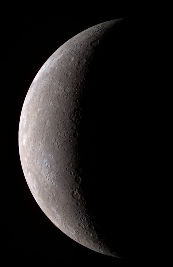Messenger's composite colour view of Mercury. Pic: NASA