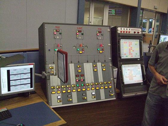 The control board at the LHC