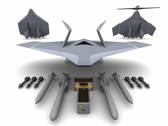 The UK MoD's 'Novel Air Concept' robot stealth jet/copter notion. Credit: Defence Science