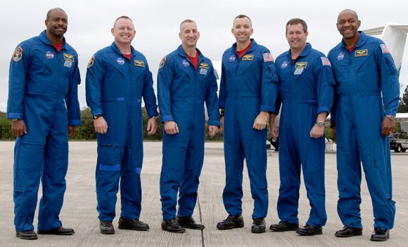 The Atlantis crew. Pic: NASA