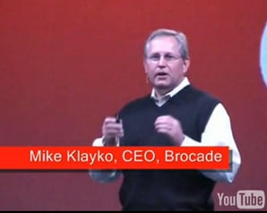 Brocade CEO Mike Klayko in sleeveless pullover