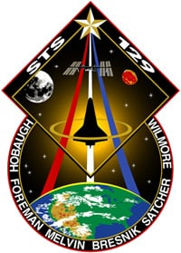 The STS-129 mission patch. Pic: NASA