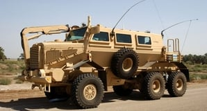 "The ""Buffalo"" Mine Resistant Ambush Protected (MRAP) vehicle. Credit: US Army"