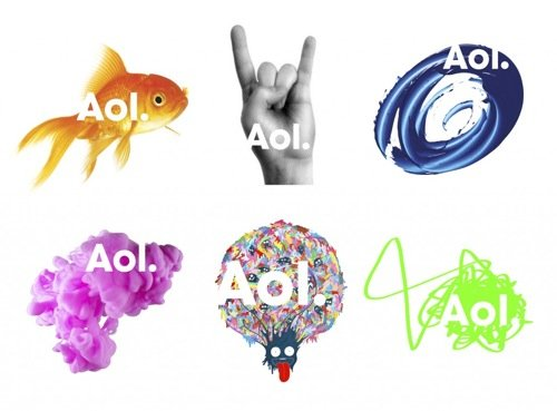 AOL logos