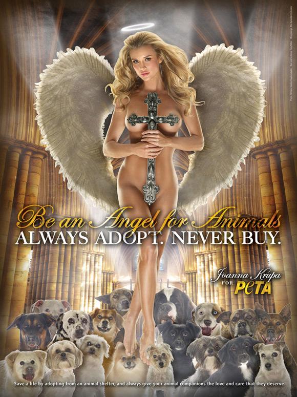 Joanna Krupa's PETA poster