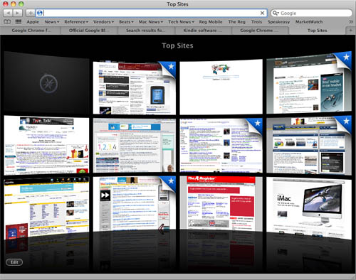 Apple Safari Top Sites