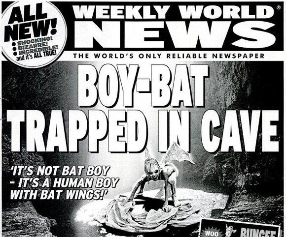 Bat Boy cover from Weekly World News
