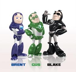 WD's three cartoon characyers
