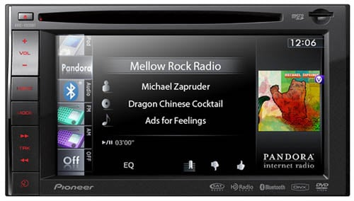 Pioneer AVIC-X920BT Pandora Radio interface