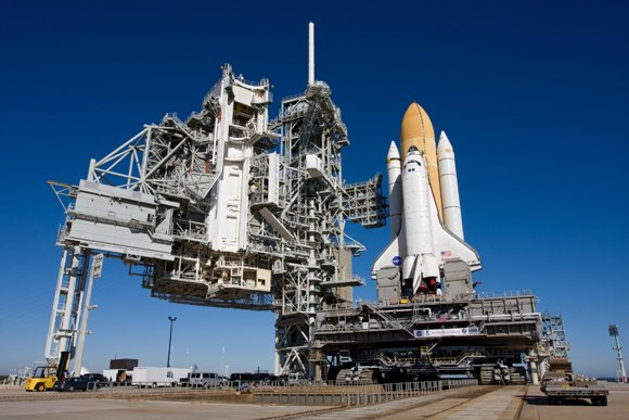 Endeavour on the launchpad. Pic: NASA