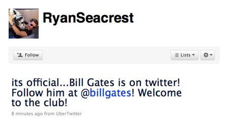 Seacrest on Twitter