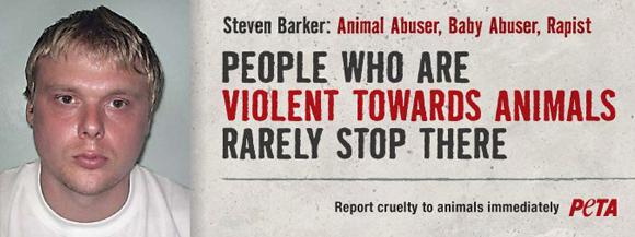 PETA's Steven Barker poster