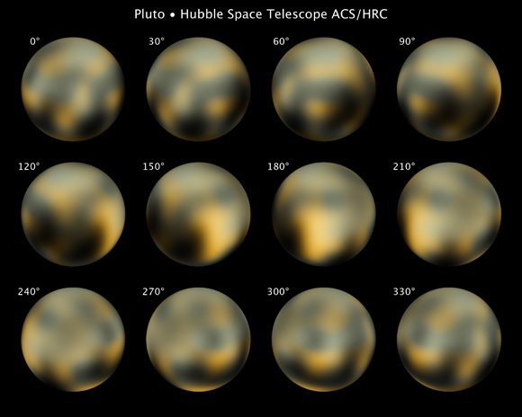 Hubble views of Pluto. Pic: NAS