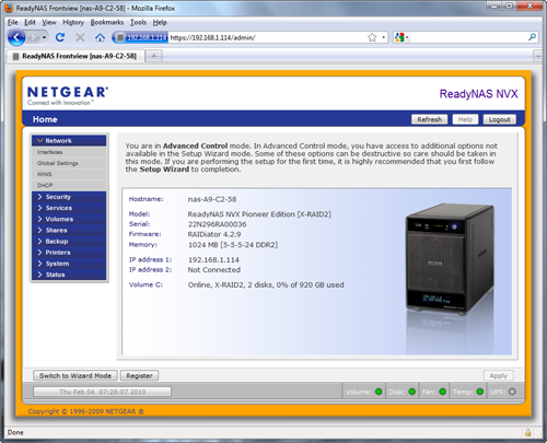 Netgear RNDX400E