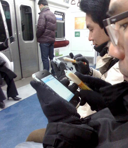 Korean-sausage iPhone stylus