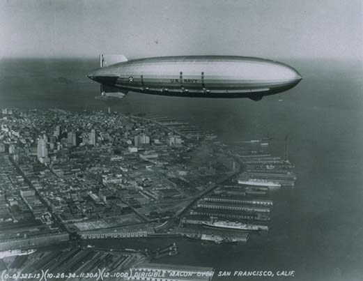 USS Macon above San F