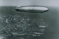 USS Macon above San Francisco